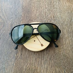 Black Ray Ban Aviator Ski Cats